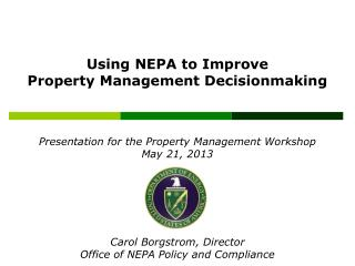 Presentation for the Property Management Workshop  May 21, 2013