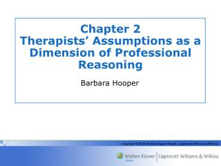 Chapter 2 Therapists' Assumptions as a Dimension of Professional Reasoning