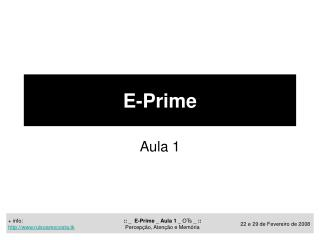 E-Prime
