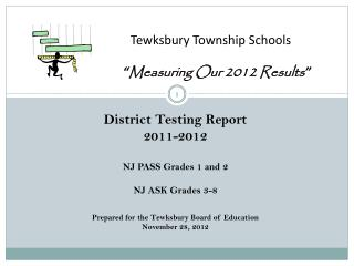 "Tewksbury Township Schools "" Measuring Our 2012 Results """