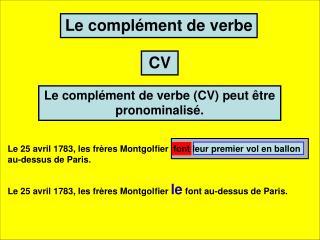 Le complément de verbe