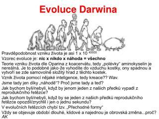 Evoluce Darwina