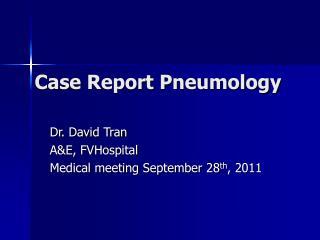 Case Report Pneumology