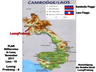 Kambodia Flagge Laos Flagge