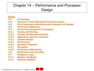 Chapter 14 – Performance and Processor Design