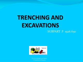 TRENCHING AND EXCAVATIONS