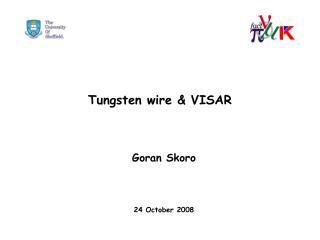 Tungsten wire  VISAR