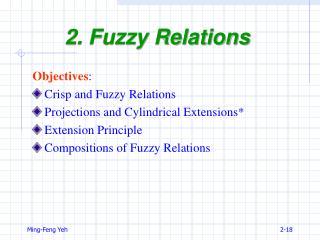 2. Fuzzy Relations