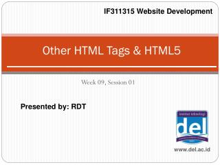 Other HTML Tags & HTML5