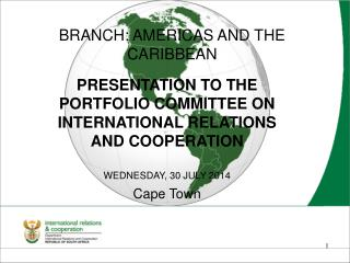 BRANCH: AMERICAS AND THE CARIBBEAN