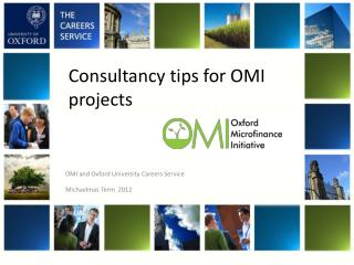 Consultancy tips for OMI projects