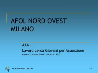 AFOL NORD OVEST MILANO
