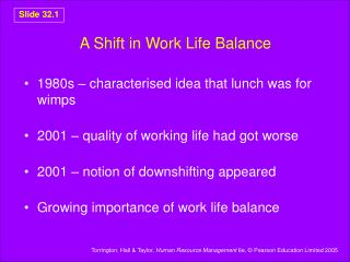 A Shift in Work Life Balance