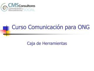 Curso Comunicaci�n para ONG