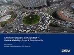 CAPACITY FLEET MANAGEMENT: Vehicle Visibility: Scope  Requirements
