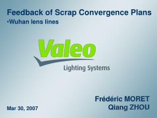 Feedback of Scrap Convergence Plans Wuhan lens lines