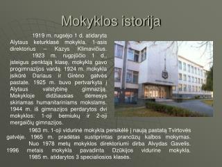 Mokyklos istorija