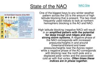 State of the NAO