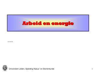 Arbeid en energie