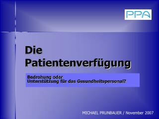 Die Patientenverf gung