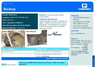 Industry : Electronics Company:  NANOX PHILIIPPINES, INC. Period:  2007-08