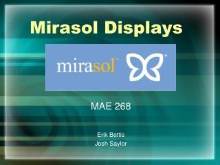 Mirasol Displays