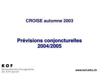 CROISE automne 2003