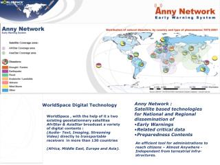 Anny Network : Satellite based technologies for National and Regional dissemination of