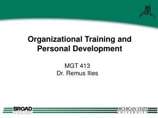 Organizational Training and Personal Development