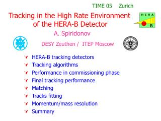 Tracking in the High Rate Environment            of the HERA-B Detector