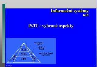 Informační systémy KIN