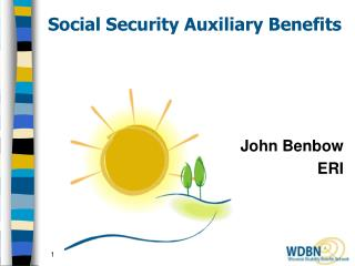 Social Security Auxiliary Benefits