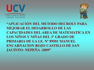 I. PROBLEMA DE INVESTIGACION