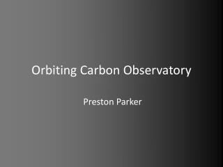 Orbiting Carbon Observatory