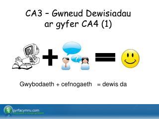 CA3 – Gwneud Dewisiadau  ar gyfer CA4 (1)