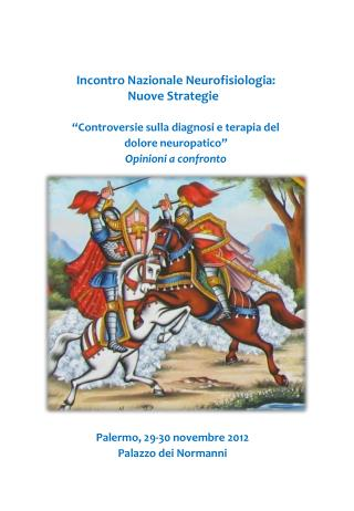 Incontro Nazionale Neurofisiologia:  Nuove Strategie
