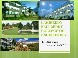 Lakireddy  Bali Reddy College of Engineering