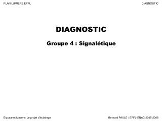 DIAGNOSTIC Groupe 4 : Signalétique