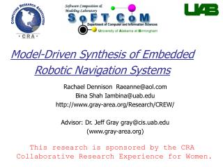 Model-Driven Synthesis of Embedded Robotic Navigation Systems