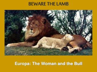 Europa: The Woman and the Bull