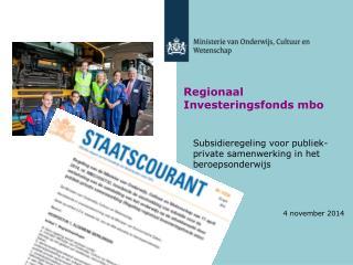 Regionaal Investeringsfonds mbo