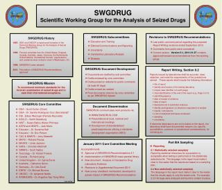 Accomplishments: Approval of SWGDRUG Recommendations 5.1