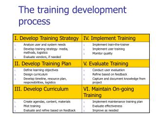 The training development process