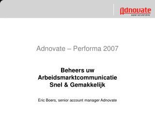 Adnovate – Performa 2007