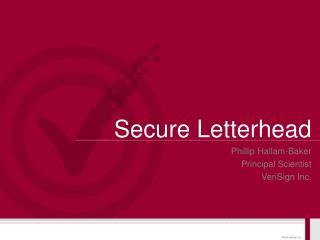 Secure Letterhead