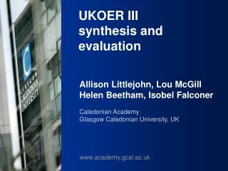 UKOER III synthesis and evaluation