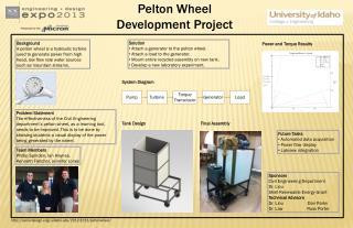 Pelton Wheel Development Project
