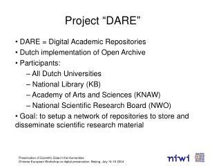 """Project """"DARE"""""""