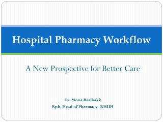 Hospital Pharmacy Workflow