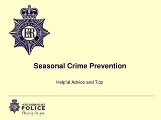Seasonal Crime Prevention